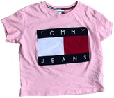 Tommy Jeans Pink Cotton Top for Women