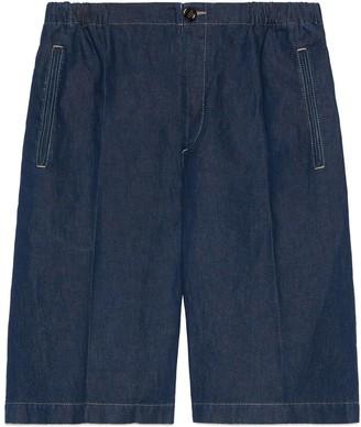 Gucci Stonewashed denim Bermuda shorts
