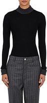 Loewe Women's Virgin Wool Mock Turtleneck Sweater-BLACK