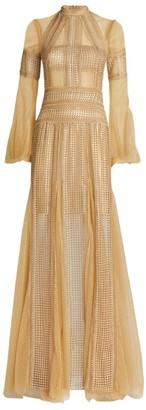 Costarellos Evita Sequin-Embellished Maxi Dress