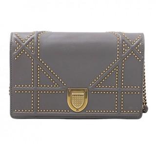Christian Dior Diorama Grey Leather Handbags