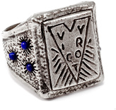 Lulu Frost George Frost *NEW* G. FROST VICTORY LAPIS RING - WHITE BRONZE