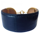 Hermes Black Exotic leathers Bracelet