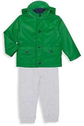 Little Me Baby Boy's 3-Piece Raincoat, Top Pant Set