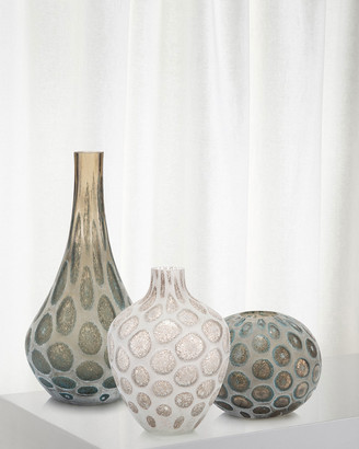 John-Richard Collection Look of Agate Hand-Blown Glass Vase I
