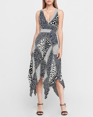Express Pleated Asymmetrical Midi Dress