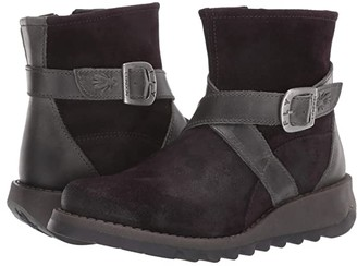 Fly London SAKE418FLY (Black Pampa/Rug) Women's Boots