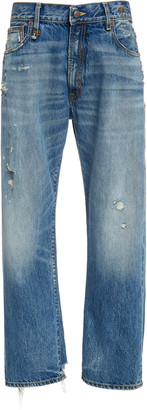 R 13 Boyfriend Rigid Low-Rise Straight-Leg Jeans