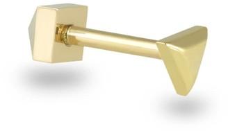 Triangle Minimalist 18K Yellow Gold Helix Stud