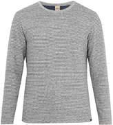 Faherty Reversible Heather cotton-blend jersey T-shirt