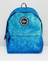 Hype Backpack In Blue Water Print