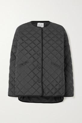Totême Dublin Oversized Quilted Shell Jacket - Black