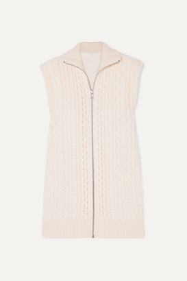 Chloé Cable-knit Wool-blend Vest - Ivory