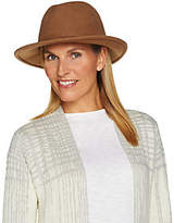 San Diego Hat Co. San Diego Hat Wool Felt Fedora with Removable Neck Wrap