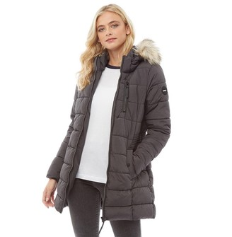 Only Womens North Quilted Coat Black
