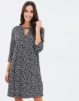 Dorothy Perkins Leopard Heart Cut-Out Swing Dress