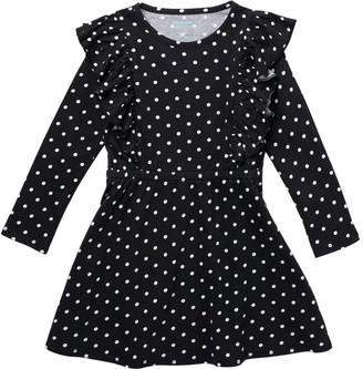 Harper Canyon Ruffle Polka Dot Long Sleeve Dress