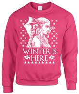 Allntrends Adult Crewneck Winter Is Here Ugly Christmas Sweater Khalessi Top (L, )
