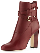 Jimmy Choo Mitchell Leather Buckle Bootie