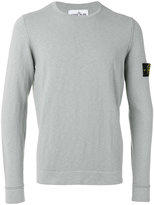 Stone Island arm patch jumper - men - Cotton/Polyamide - L