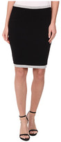 Three Dots Two Toned Skirt