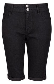 Dorothy Perkins Womens Black Double Button Knee Shorts, Black
