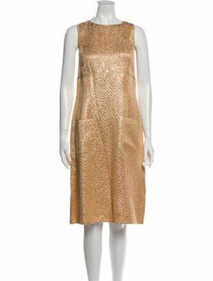 Chanel Vintage Midi Length Dress Gold