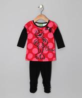 Children's Apparel Network Sesame Street Black 'Elmo' Layered Tunic & Leggings - Infant