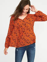 Old Navy Smocked-Shoulder Boho Swing Blouse for Women