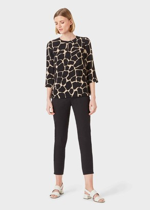 Hobbs Alex Animal Crew Neck Blouse