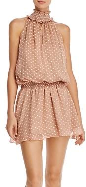 Amanda Uprichard Kimmie Sleeveless Embroidered-Dot Mini Dress