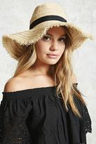 Forever 21 Braided Straw Floppy Fedora