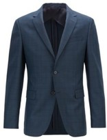 HUGO BOSS - Slim Fit Jacket In Glen Check Virgin Wool - Open Green