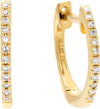 ADINAS JEWELS 14k Gold Diamond Huggie Earrings