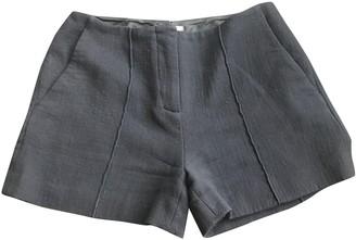 Miu Miu Navy Wool Shorts for Women