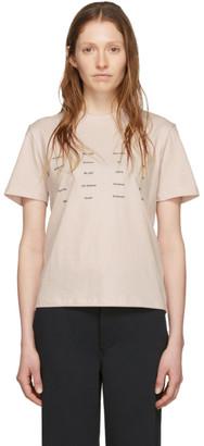 Proenza Schouler Pink White Label Address Logo T-Shirt
