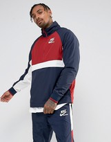 Nike Archive Half Zip Track Jacket In Navy 921743-451