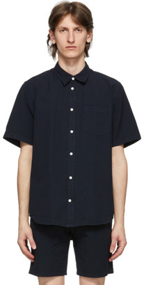 Norse Projects Navy Seersucker Osvald Shirt