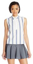Rebecca Minkoff Women's Jane Cotton Stripe Top