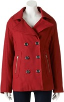 Women's Excelled Double-Breasted Wool-Blend Peacoat
