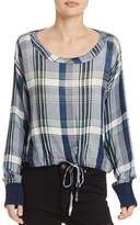 Bella Dahl Plaid Tie-Front Top