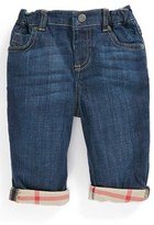 Burberry Infant Boy's Check Lined Jeans