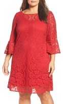 Gabby Skye Plus Size Women's A-Line Lace Dress