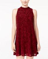 Speechless Juniors' Flocked Velvet Shift Dress, A Macy's Exclusive
