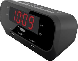 Timex RediSet Dual Alarm Clock with Dual USB Charging
