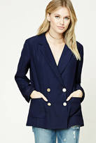 LOVE21 LOVE 21 Contemporary Button-Up Blazer