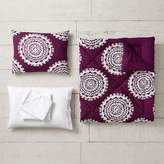 Pottery Barn Teen Medallion Florette Comforter Bundle, Full, Light Gray