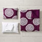 Pottery Barn Teen Medallion Florette Comforter Bundle, Twin/Twin XL, Dark Purple