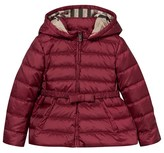Burberry Plum Quilted Puffer Coat with Hood