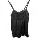 La Petite Francaise Black Silk Top for Women